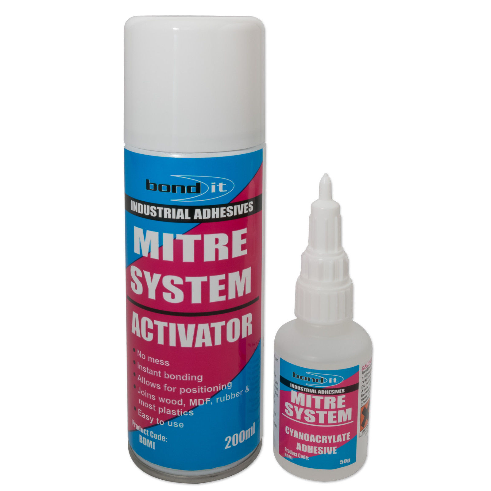 Details about Bond-it Mitre Bonding Kit Superglue & Activator System Rapid  Joint Adhesive